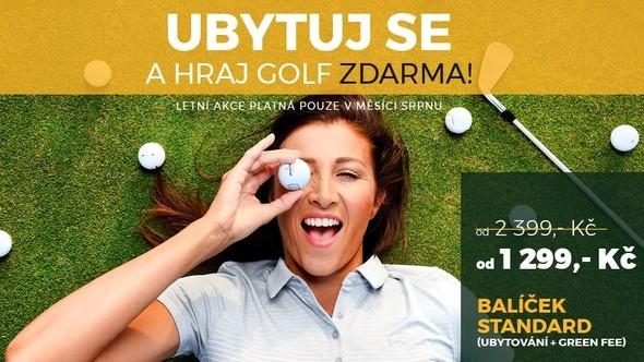 Ubytuj se a hraj golf zdarma