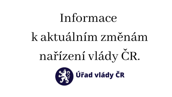 Změny v nařízeních vlády ČR, platné od 22. 10. 2020.